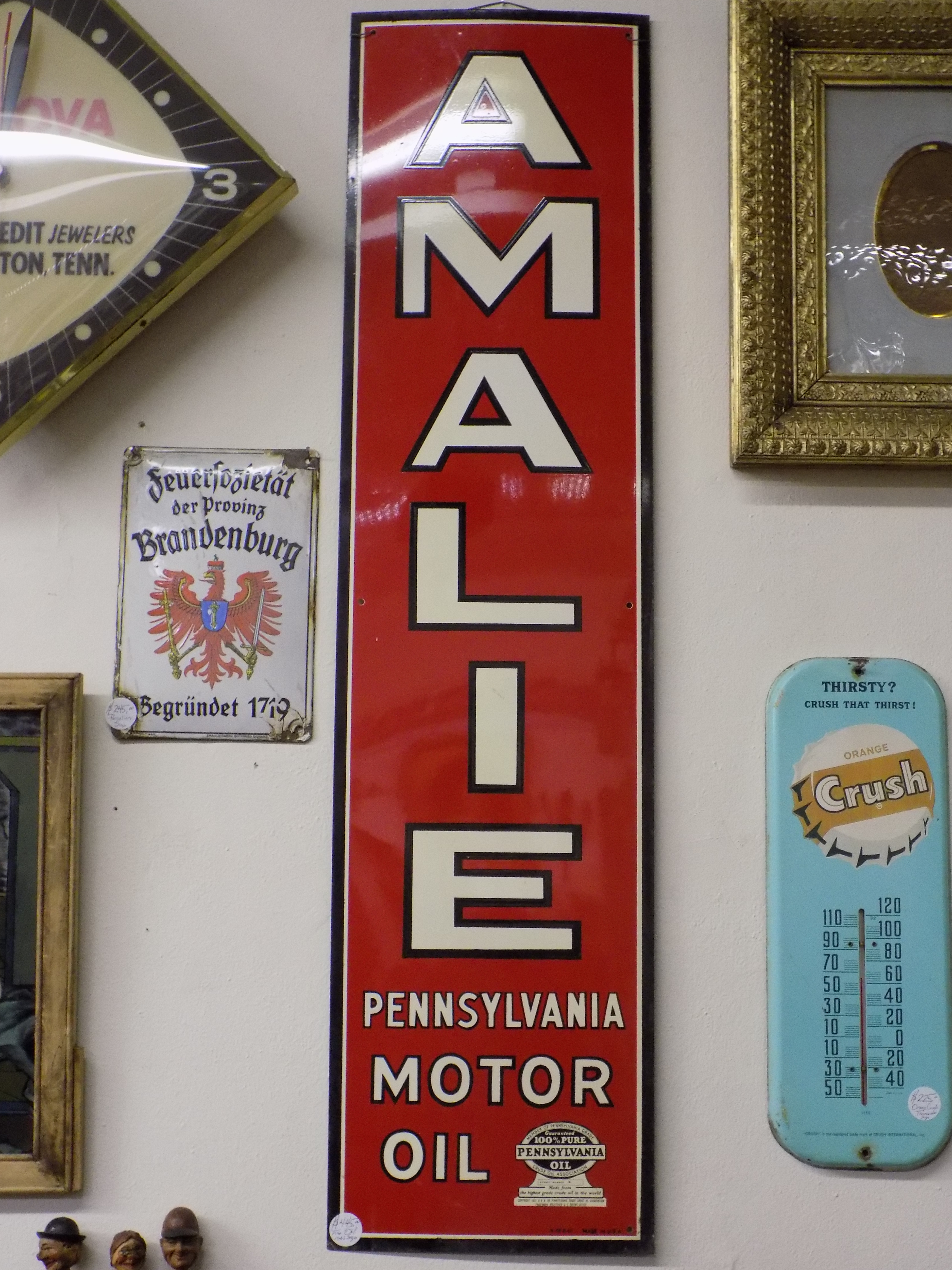 Amalie Advertising Sign