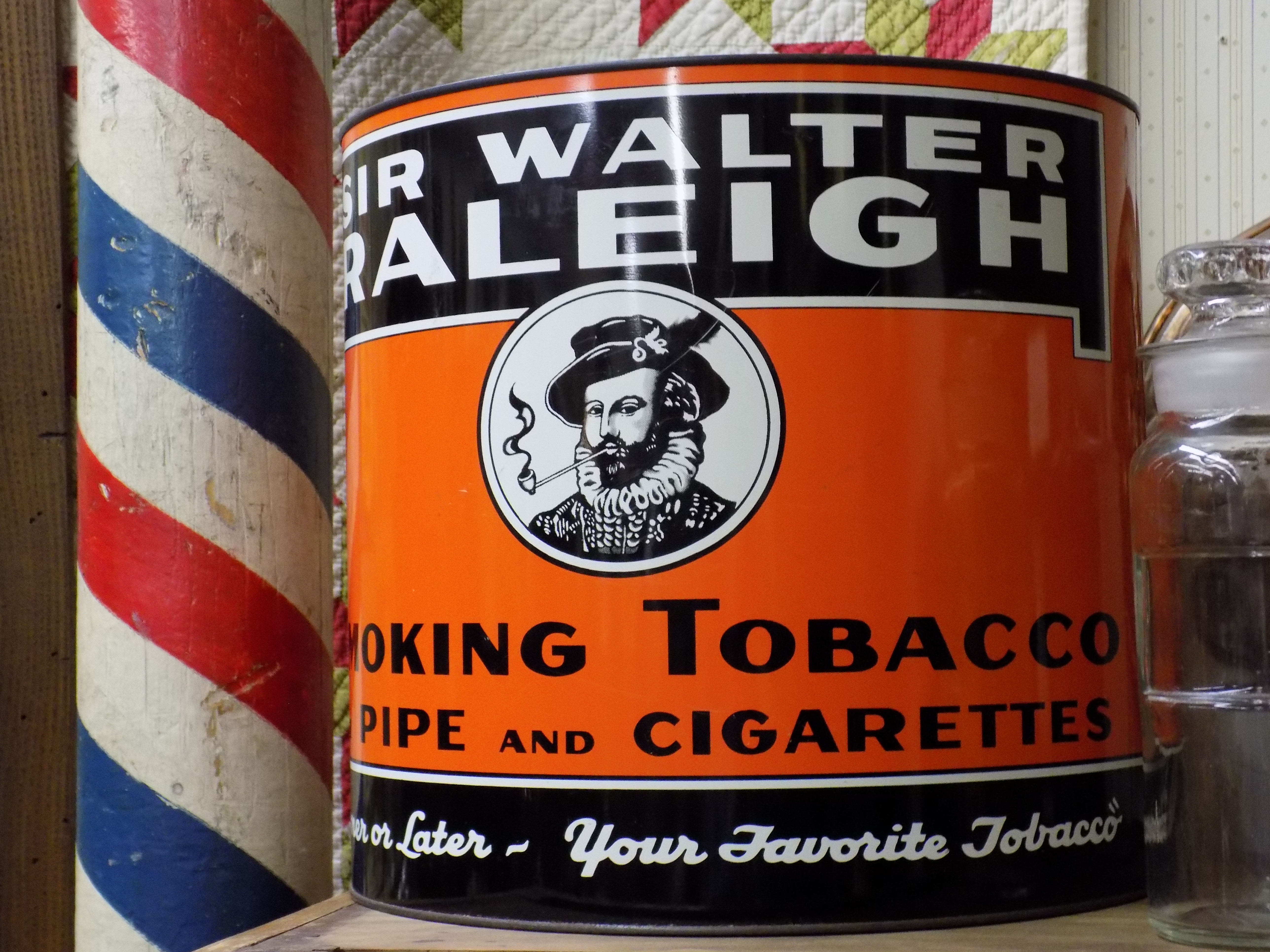 Raleigh Tobacco Tin