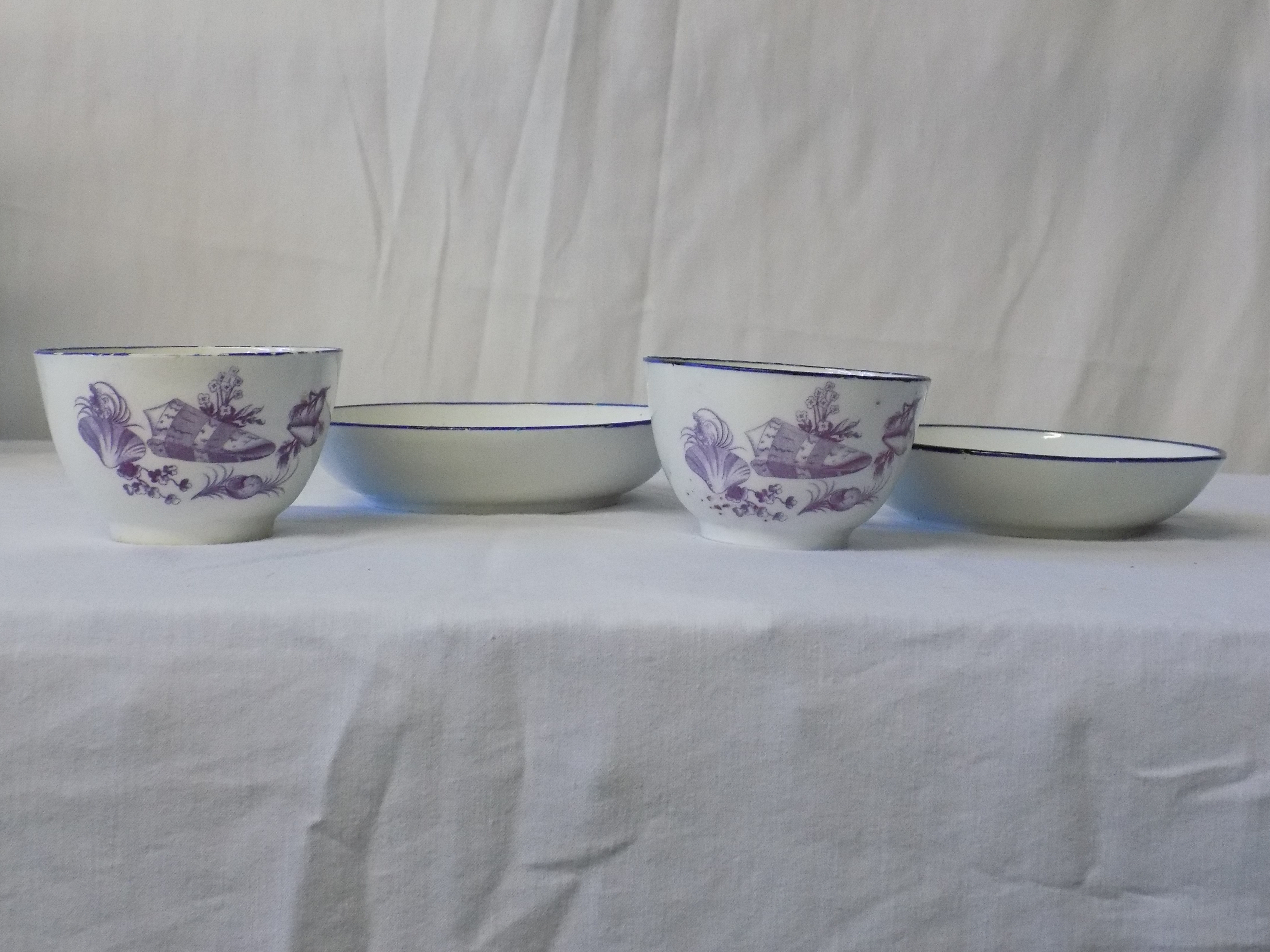 18th Century Soft-Paste Cups/Saucers
