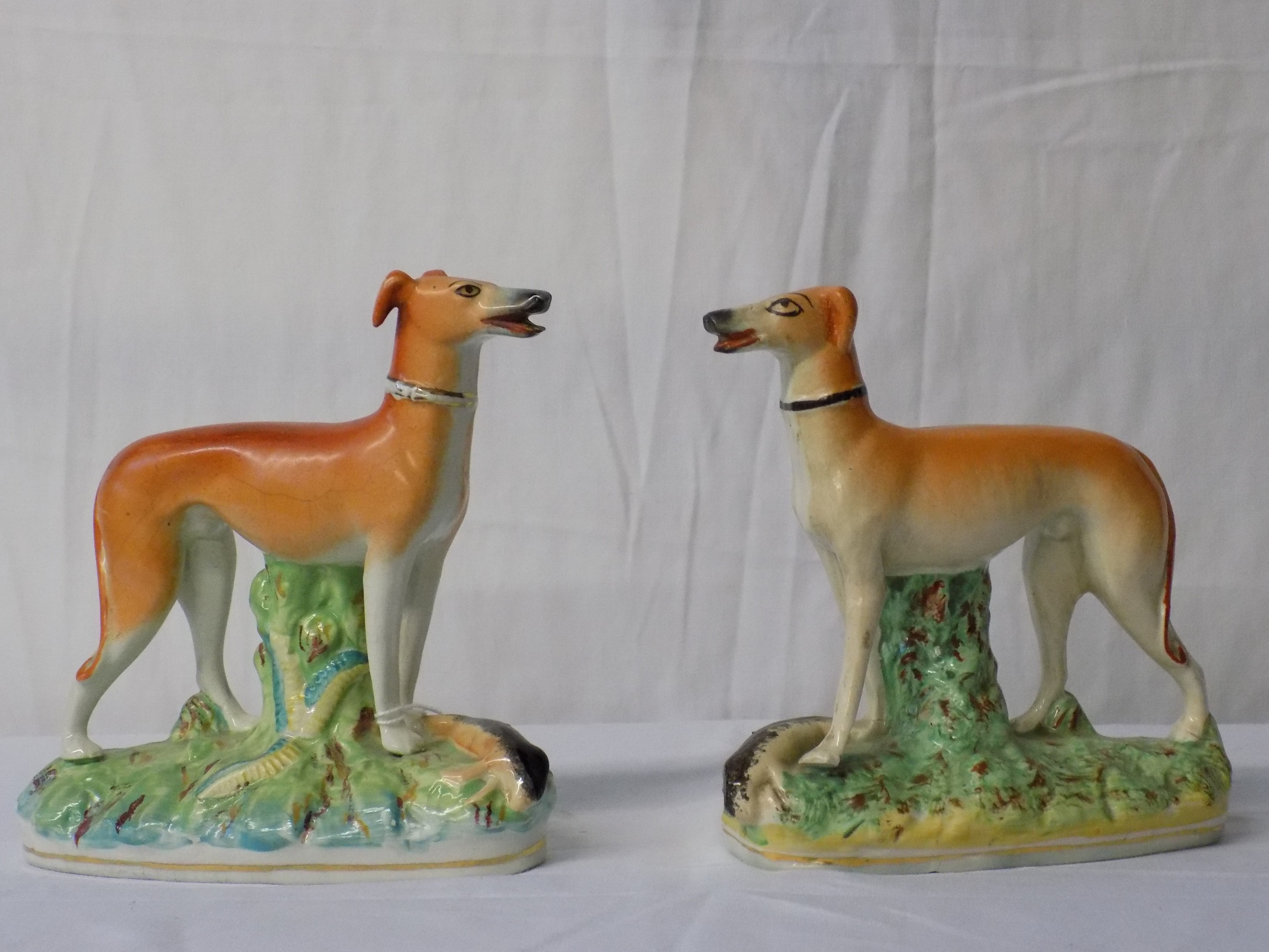 Pair of Staffordshire Whippets